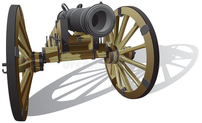 Forntida sätta in vapnet stock illustrationer