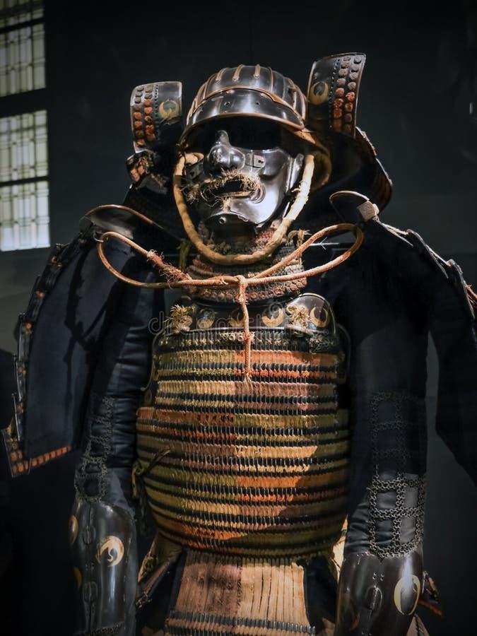 Forntida samurajpansar arkivbilder