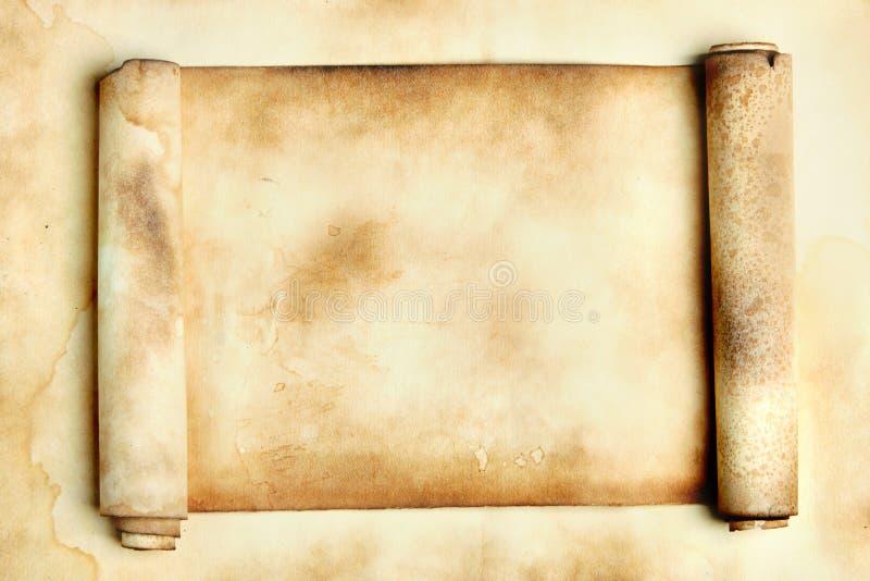 forntida scroll arkivfoto