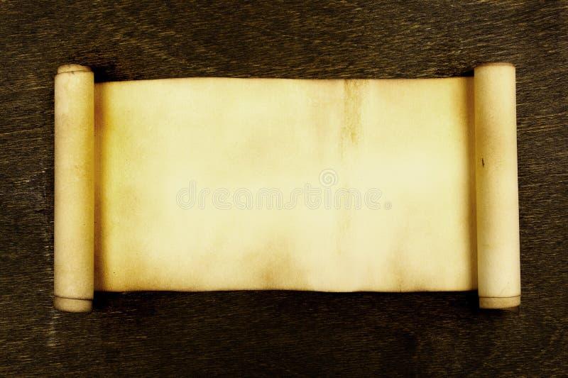 forntida scroll royaltyfri fotografi