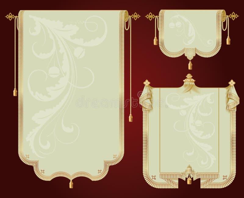 forntida scrolls royaltyfri illustrationer