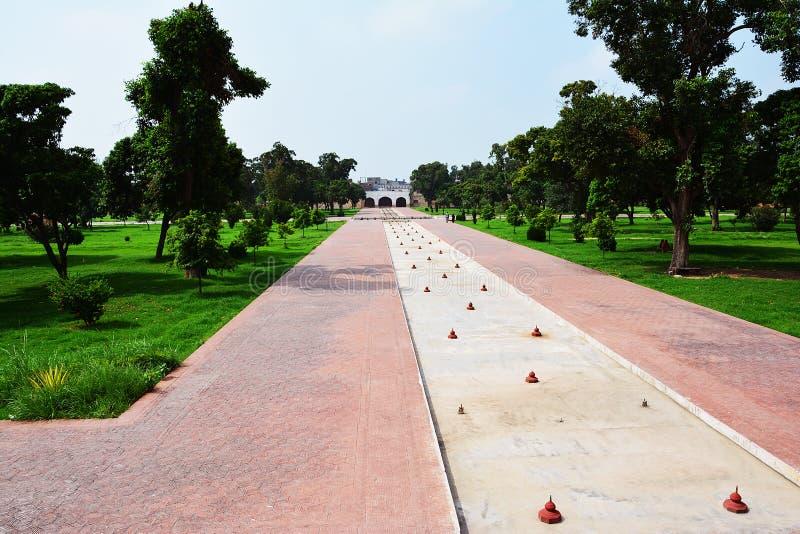 Forntida Shalimar Garden Lahore royaltyfria foton