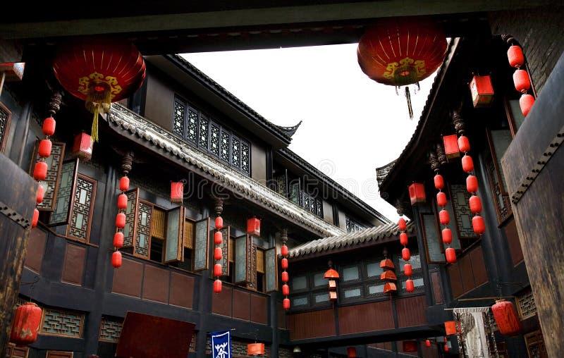 forntida sichuan för chengdu porslinjinli gata royaltyfria bilder