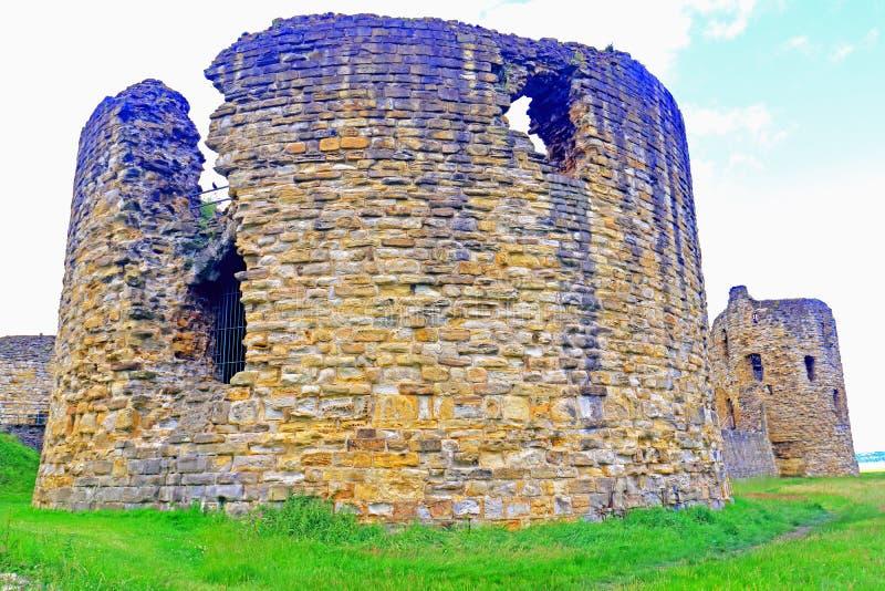 Forntida slottregler med den nära detaljen av konstruktion royaltyfri foto