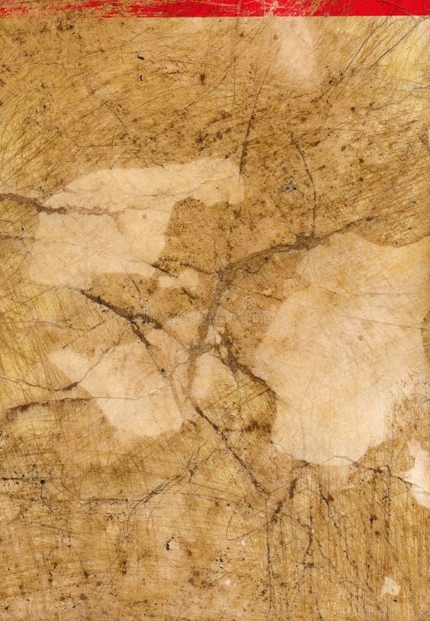 Forntida smutsig pappers- sidabakgrund med röda linjen royaltyfria foton