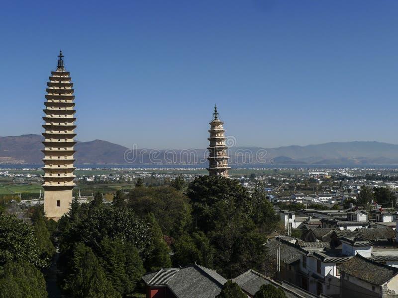 Forntida stad av dalien i yunnan, porslin arkivbild
