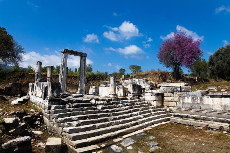 Forntida stad av laginaen royaltyfri foto