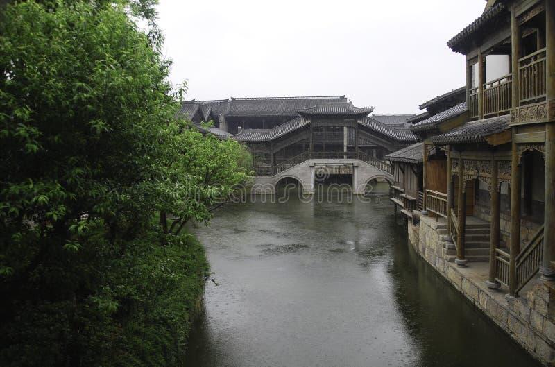 Forntida stad av Taierzhuang arkivbild