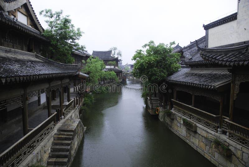 Forntida stad av Taierzhuang royaltyfria bilder