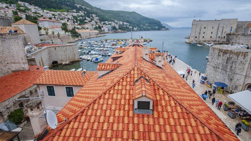 Forntida stad Dubrovnik royaltyfri bild