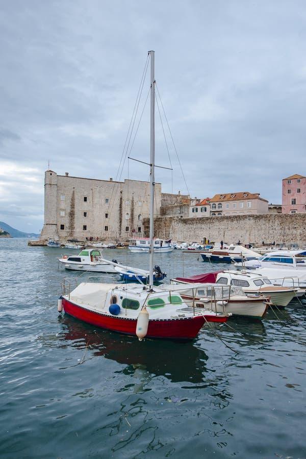 Forntida stad Dubrovnik arkivbilder