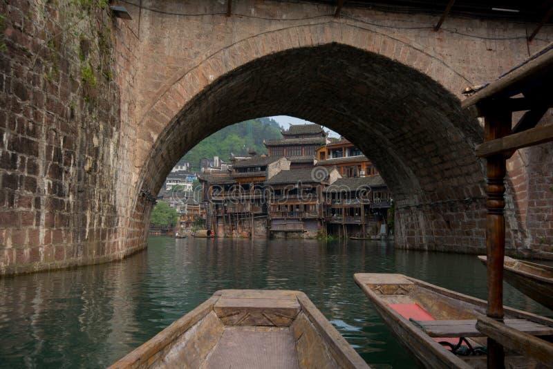 Forntida stad Fenghuang Kina arkivfoton