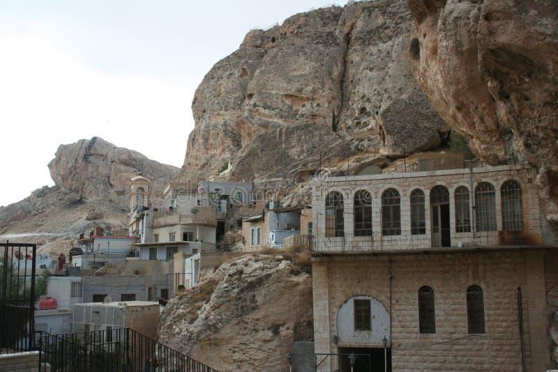 forntida stadsmaalula syria royaltyfria foton