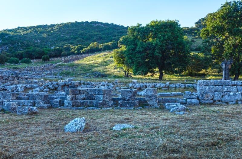 forntida stadsutgrävningar royaltyfri foto