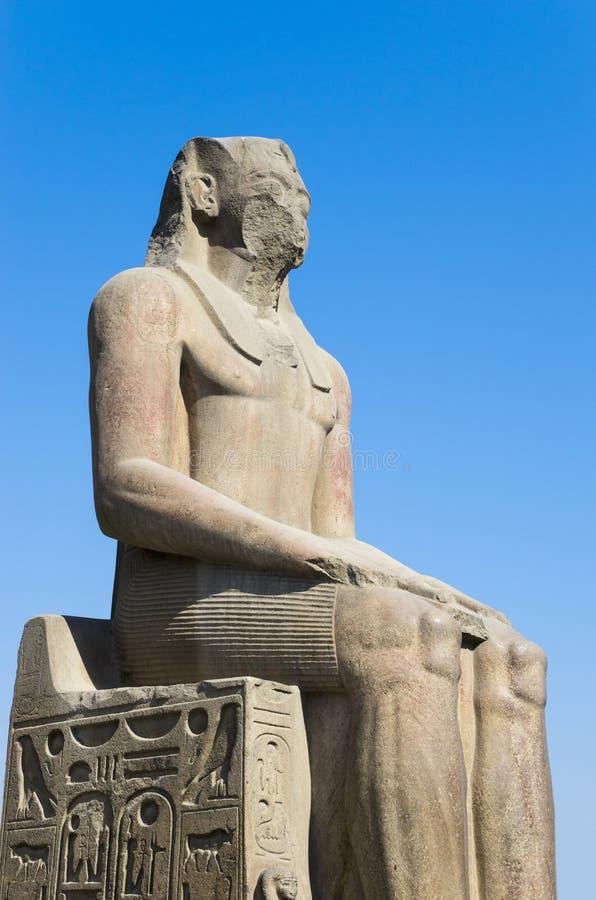 forntida staty Kairomuseum av Egyptology och forntider arkivbilder