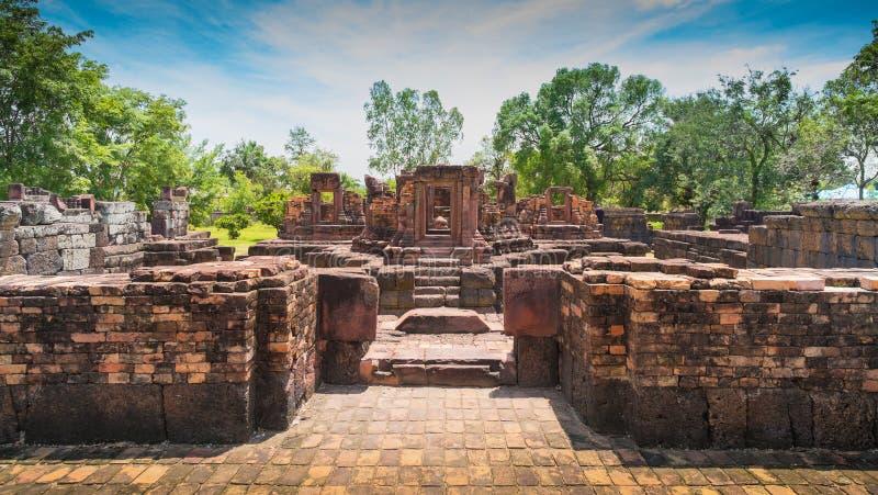 Forntida stenslott, Thailand royaltyfria foton