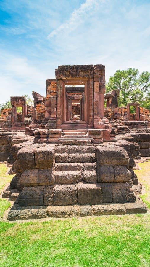 Forntida stenslott, Thailand royaltyfri foto