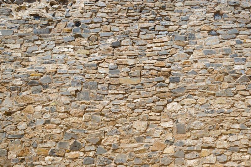 Forntida stenvägg fotografering för bildbyråer