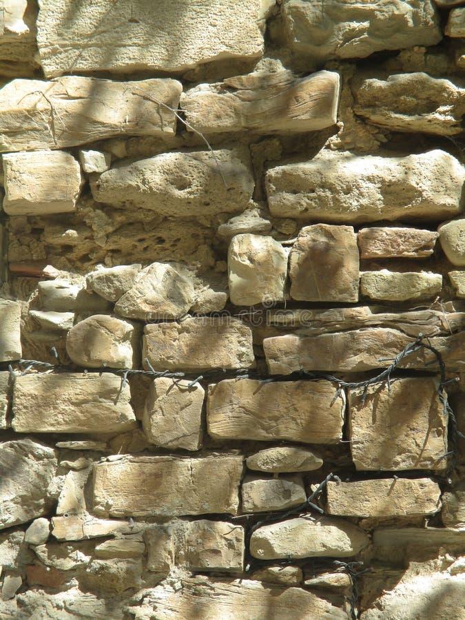 forntida stenvägg arkivbild