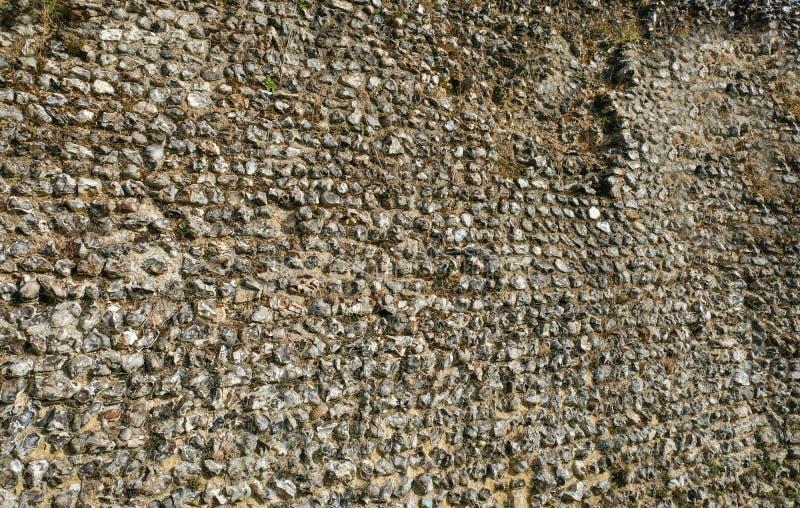 Forntida stenvägg i en Norman Castle fotografering för bildbyråer