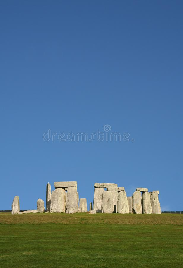 Forntida Stonehenge i England royaltyfria foton