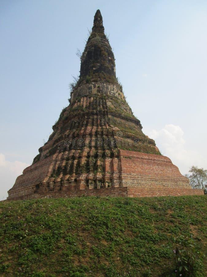 forntida stupa för 16th århundrade i Xieng Khouang, Laos arkivfoto