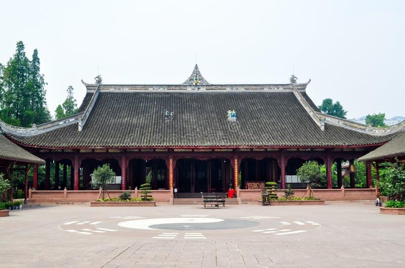 Forntida Taoisttempel av Chengdu, Sichuan, Kina royaltyfri foto