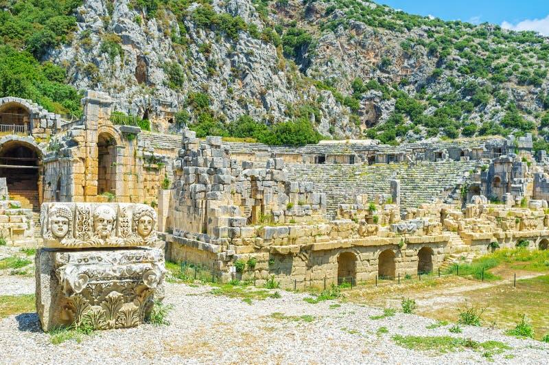 forntida teater arkivfoto