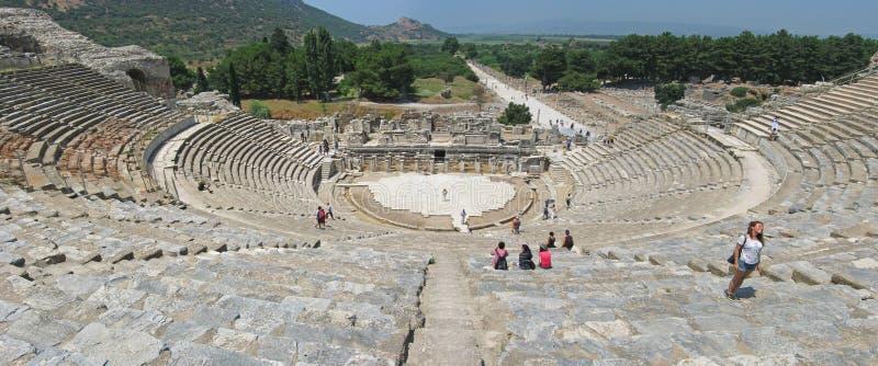 Forntida teater i Ephesus, Asien minderårig, Turkiet royaltyfri foto