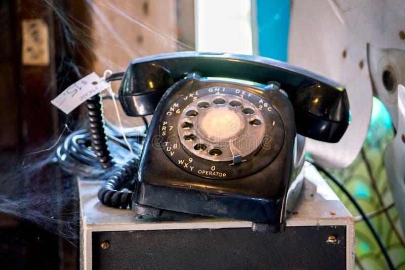 Forntida teknologi, en telefon för roterande visartavla fotografering för bildbyråer