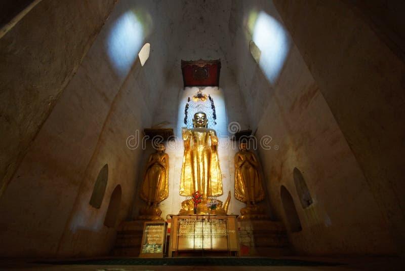 Forntida tempel av Bagan, Burma, Asien royaltyfria bilder