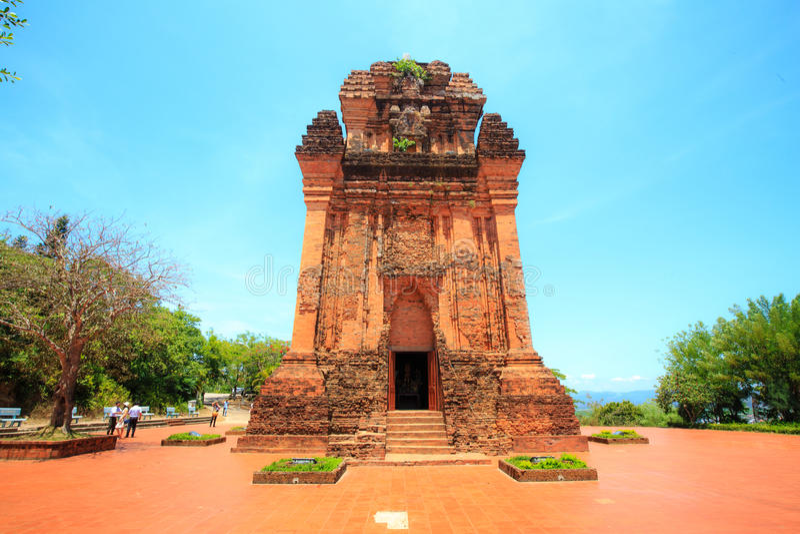 Forntida tempel av Chamfolket i Phu Yen Province, Vietnam arkivfoton