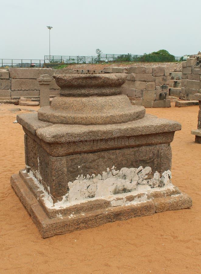Forntida tempel byggnad-att kallas balibeetam royaltyfri fotografi