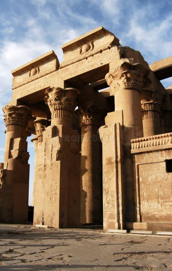 forntida tempel för sobek för komombopharaoh royaltyfri foto