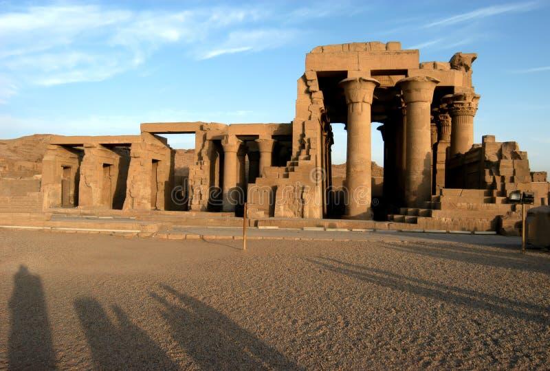 forntida tempel för sobek för komombopharaoh royaltyfria bilder