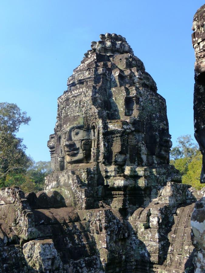 Forntida tempel i Angkor Wat/Cambodja arkivfoto