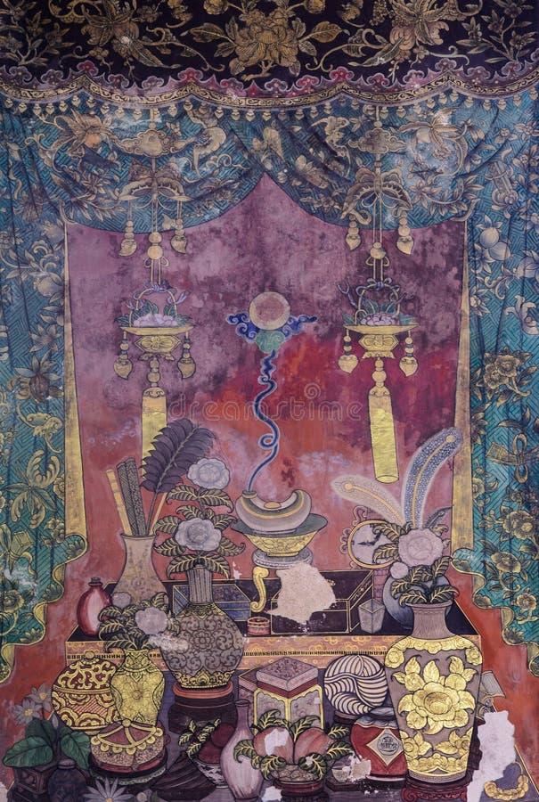 Forntida thailändsk konst i kinesisk stil royaltyfri bild