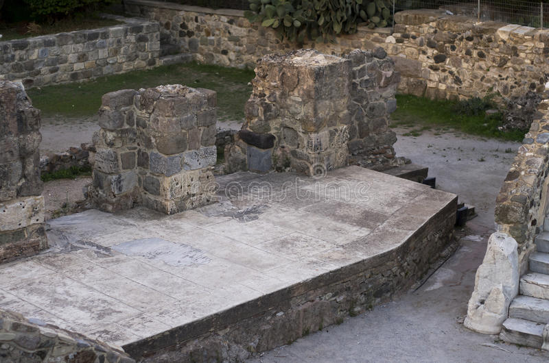 forntida theatre arkivfoto