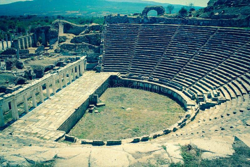 forntida theatre arkivfoton