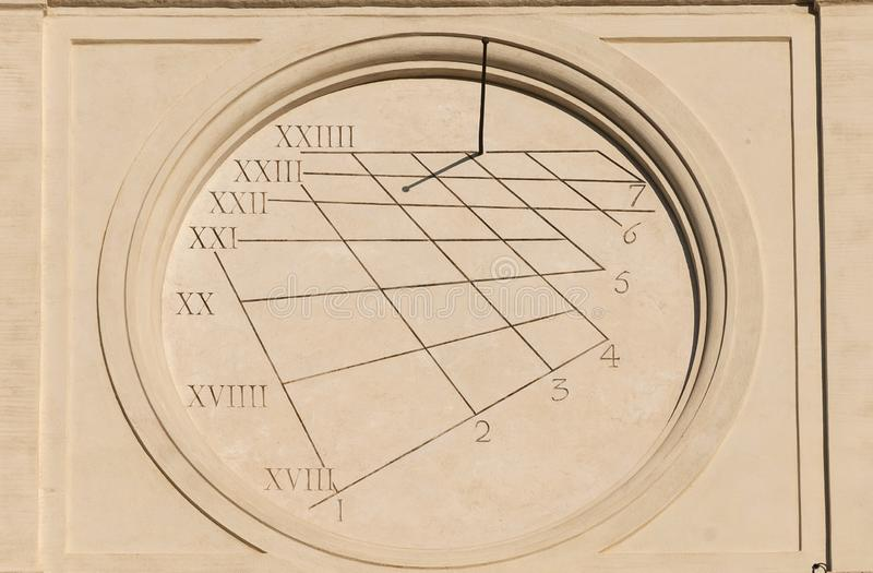 Forntida tider och solur arkivbilder