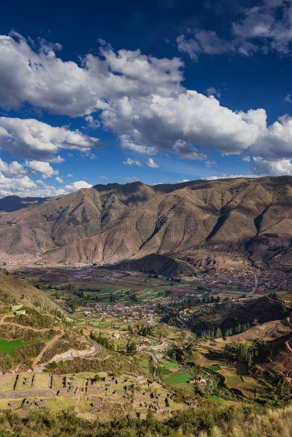 Forntida Tipon fördärvar i Cusco Peru royaltyfri bild