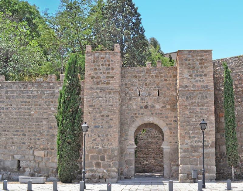 Toledo väggar arkivfoto