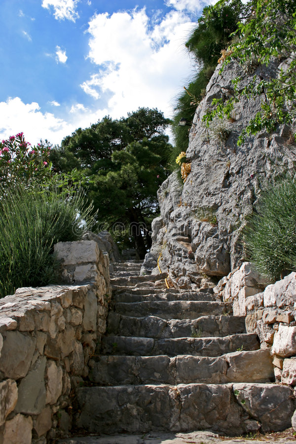 forntida trappa arkivbilder
