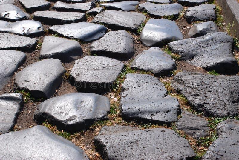 forntida väg roman rome arkivfoton