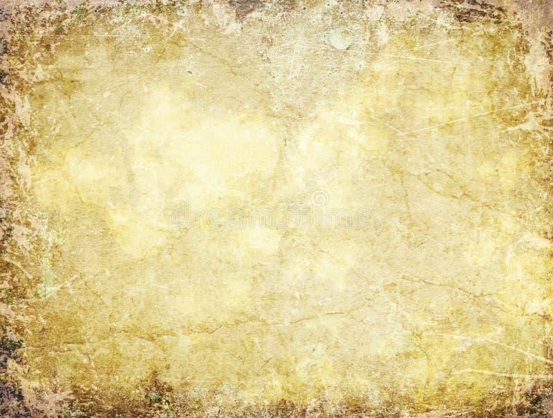 Forntida vägg med sprickor stock illustrationer
