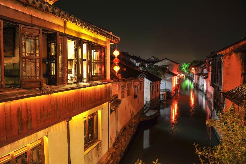 forntida zhouzhuang för vatten för porslinturismtown arkivfoto