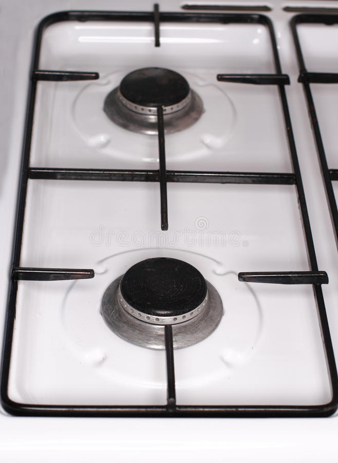 Fornuis Oven Top Detail royalty-vrije stock afbeelding