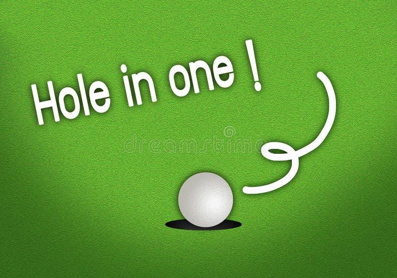 Foro cadente messo del Golfball in un colpo illustrazione vettoriale