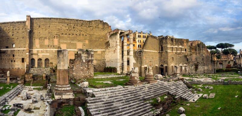 Foro de Augustus en Roma, Italia imagen de archivo libre de regalías