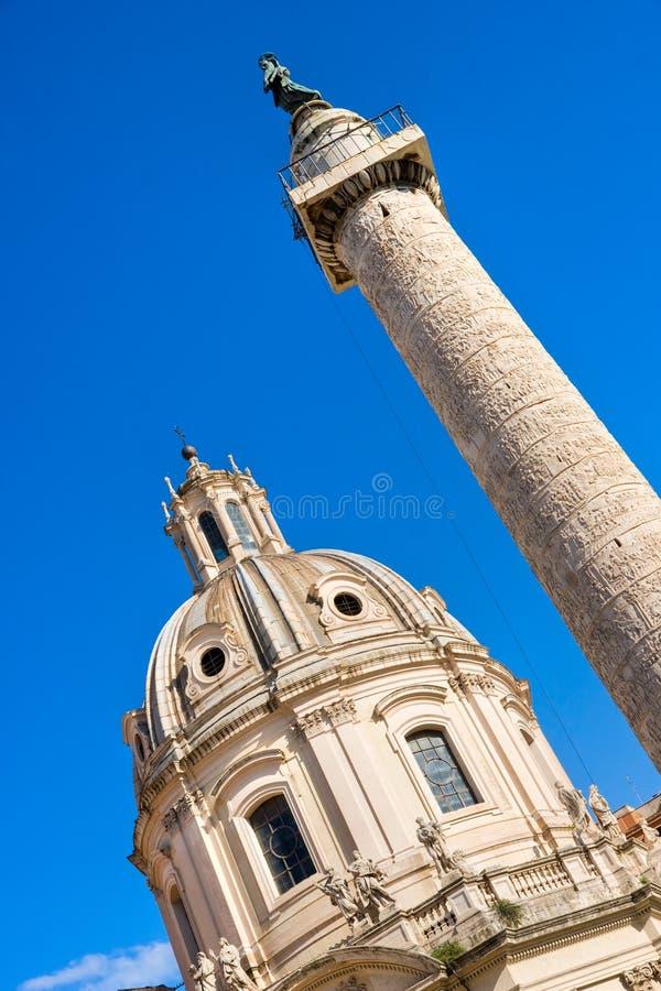 Foro de Trajan, Roma. imagen de archivo libre de regalías